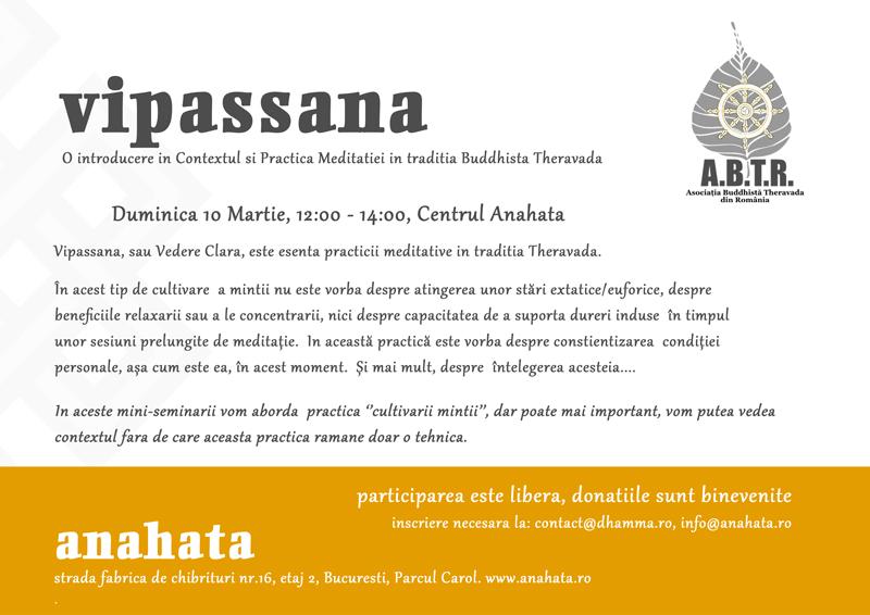 Vipassana 10 Mar